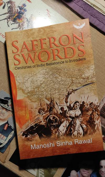 cover book of saffron swords